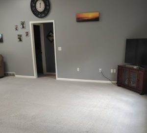 Picture of family room carpet after cleaning
